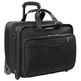 @Work 17&quot; Executive Expandable Rolling Briefcase in Black