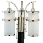 Eternity Outdoor Post Lantern in Brushed Nickel