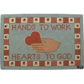 Heart in Hand Novelty Rug