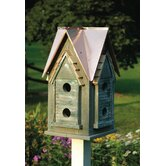 Copper Mansion Bird House