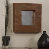 Mahogany Leaf Square Mirror