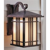 Prairie House Mid-Size Wall Lantern in Weathered Patina