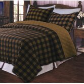 Western Plaid Brown Quilt Set