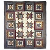 Cottage Star Throw Quilt