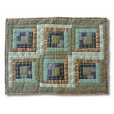 Green Log Cabin Standard Pillow Sham