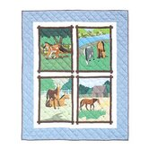 Horse Friends Throw Quilt