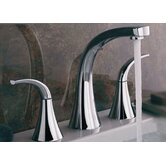 Alesia Widespread Bathroom Faucet with Double Lever Handles