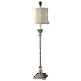 Sherise Buffet Lamp in Silver Plated Metal