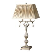 Floriane  Table Lamp in Antiqued Silver with Crystal Accents