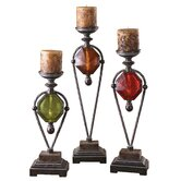 Kalika Candlesticks (Set of 3)