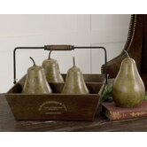 Pears in Basket (Set of 5)