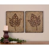 Decorative Leaves Wall Art (Set of 2)