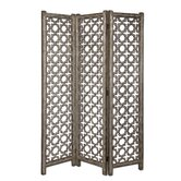 "73"" x 55"" Quatrefoil 3 Panel Room Divider"
