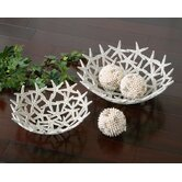Five Piece Starfish Bowls With Sphere in Antique White
