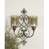 Sorel Double Wall Sconce in Antique Bronze