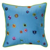 Valley of Flowers Decorative Pillow in Turquoise