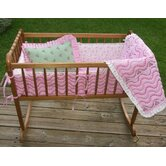 Summer Garden Pink and Green Cradle Bedding Collection