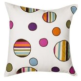 Dots and Stripes Spice Decorative Pillow Square