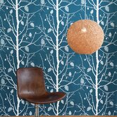 Family Tree Wallsmart Wallpaper in Petrol