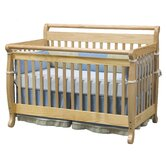 Emily 4-in-1 Convertible Crib with Toddler Rail in Natural
