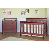Kalani Two Piece Convertible Crib Set with Toddler Rail in Cherry