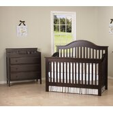 Jayden Two Piece Convertible Crib Set with Toddler Rail in Espresso