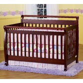 Emily 4-in-1 Convertible Crib with Toddler Rail in Cherry