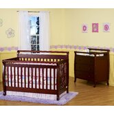 Emily Two Piece Convertible Crib Set with Toddler Rail in Cherry