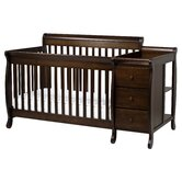 Kalani 4 in 1 Convertible Crib and Changer Combo in Espresso