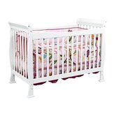 Reagan 4-in-1 Convertible Crib with Toddler Rail in Pure White
