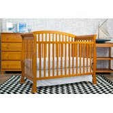 Thompson 4-in-1 Convertible Crib with Toddler Rail in Oak