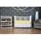 Jenny Lind Two Piece Convertible Crib Set in White