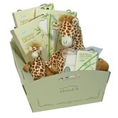 Gentle Giraffe Holiday Gift Cradle