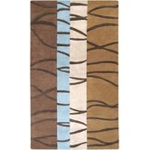 Mosaic Brown/Sky Rug