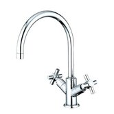 Nuvo Single Hole Sink Faucet with Double Cross Handles