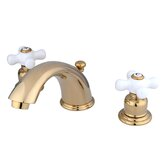 Magellan Widespread Bathroom Faucet with Double Porcelain Cross Handles