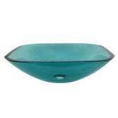 Square Temper Glass Vessel Sink
