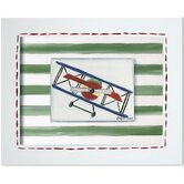 Transportation Bi-Plane Framed Giclee Wall Art