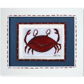 Sea Life Crab Framed Giclee Wall Art