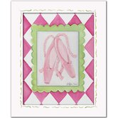 Ballerina Ballet Slippers Framed Giclee Wall Art