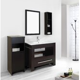 "Masselin Single 40"" Bathroom Vanity Set in Espresso"