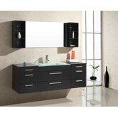 "Colombo 62"" Bathroom Vanity Set in Espresso"