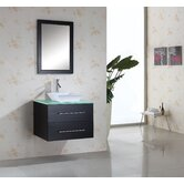"Marsala Single 30"" Bathroom Vanity Set in Espresso"