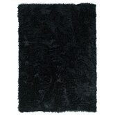 Faux Sheepskin Black Rug