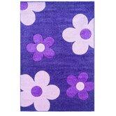 Corfu Floral Purple/Baby Pink Kids Rug
