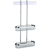 Basket Double Shower Basket in Chrome