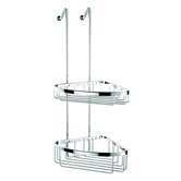 Basket Large Double Corner Shower Basket in Chrome