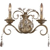 Angelite Wall Sconce in Weathered Silver
