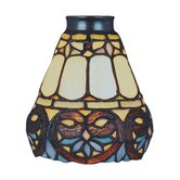 Mix-N-Match 5.25&quot; Floret Design Glass Shade