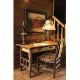 Hickory 2 Drawer Writing Desk and Chair Set